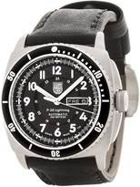 Luminox P-38 Lightning Automatic Stainless Steel Watch - Leather Strap (For Men)