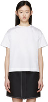 Jil Sander White Poplin Open Back Blouse