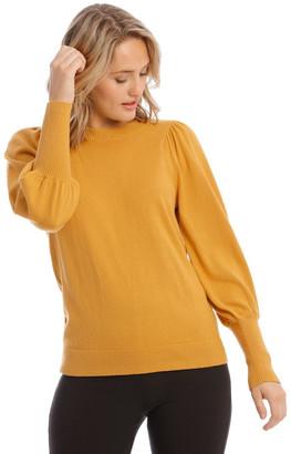 Piper Sweater Fine Gauge Puff Sleeve