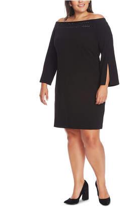 Vince Camuto Plus Size Off-The-Shoulder Dress