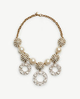 Ann Taylor Pearlized Lucite Statement Necklace