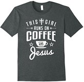 This Girl Runs on Coffee and Jesus Shirt Coffee Funny Gift