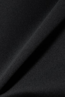 RtA Livia Silk-satin And Stretch-tulle Bodysuit - Black