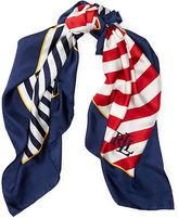 Ralph Lauren Anna Striped Silk Scarf