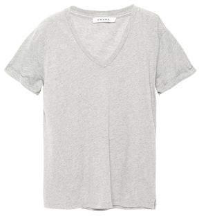 Frame Melange Cotton-jersey T-shirt