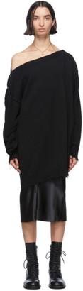 Ann Demeulemeester Black Knit Off-The-Shoulder Sweater