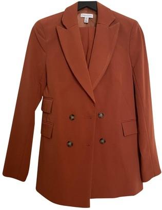 Topshop Tophop Orange Cotton Jacket for Women