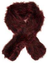 Adrienne Landau Knitted Fur Stole w/ Tags