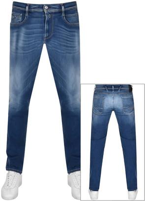 Replay Anbass Slim Fit Hyperflex Jeans Blue