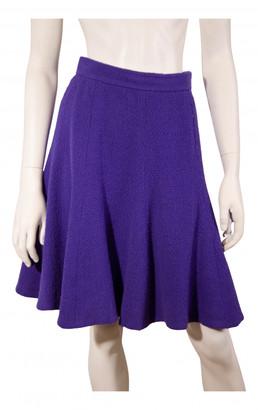 Chanel Purple Wool Skirts