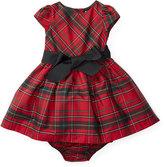 Ralph Lauren Tartan Plaid Taffeta Dress, Red/Black, Size 9-24 Months