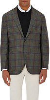 Luciano Barbera MEN'S CHECKED TWO-BUTTON SPORTCOAT-GREEN SIZE 42