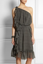 Isabel Marant Aiden one-shoulder printed silk-crepe dress