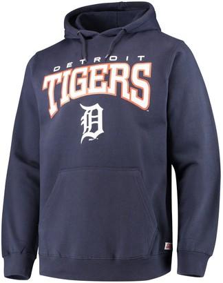 Stitches Men's Navy Detroit Tigers Team Pullover Hoodie