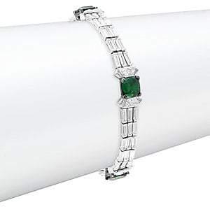Adriana Orsini Women's Azlyn Rhodium-Plated Sterling Silver & Cubic Zirconia Deco Line Bracelet