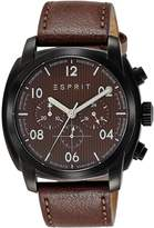 Esprit ES107551002 - Men's Watch, Leather, Brown Tone