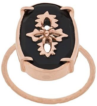 Pascale Monvoisin 9kt rose gold Sunday Black ring