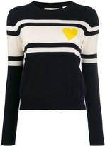 Chinti and Parker striped heart jumper