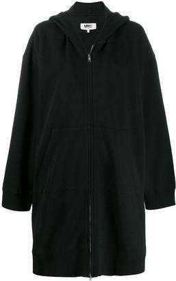 MM6 MAISON MARGIELA long zipped hoodie