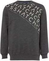 Crosshatch Men's Leeroy Crew Sweatshirt - Charcoal Marl