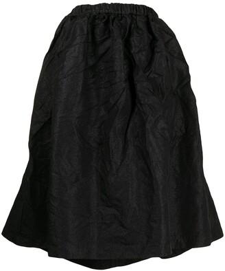Comme des Garçons Comme des Garçons Crinkled-Finish Full Skirt