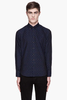 Rag and Bone RAG & BONE Navy mini colorblock Confetti button down