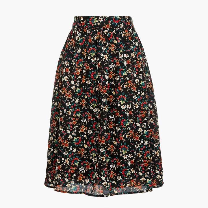J.Crew Printed midi skirt