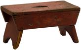 Rejuvenation Petite Red-Painted Primitive Bench c1910