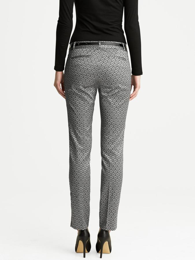 Banana Republic Camden-Fit Jacquard Skinny Ankle Pant
