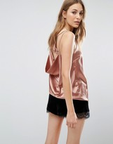 Boohoo Satin Open Back Cami Top