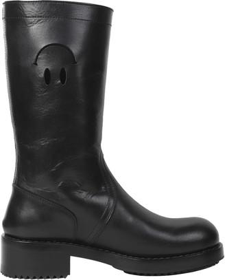 Raf Simons Black Smiley Boots