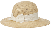 John Lewis Girls' Straw Sun Hat with Bow, Natural