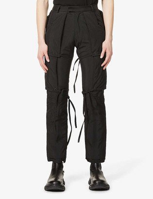 Pieces Uniques Bushi padded straight shell trousers