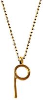 P Initial Pendant Necklace