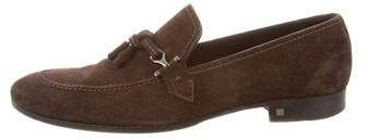 Louis Vuitton Suede Round-Toe Loafers