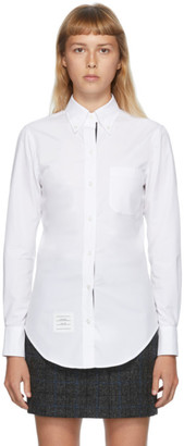 Thom Browne White Classic Long Sleeve Shirt