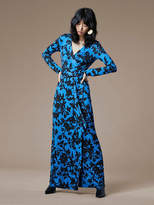 Diane von Furstenberg New Julian Long Banded Wrap Dress