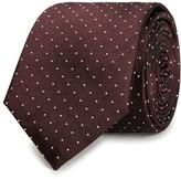 Peckham Rye Burgundy Pin-dot Silk Tie