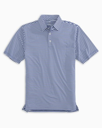 Southern Tide Team Colors Striped Performance Polo Shirt