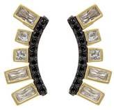 Freida Rothman Gold Plated Climber Earrings