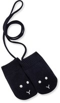 Petit Bateau Unisex baby wool and cotton knit mittens