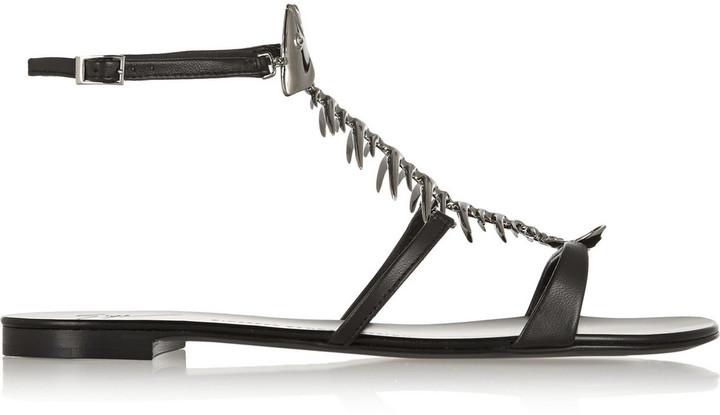 Giuseppe Zanotti Fish-Embellished Leather Sandals