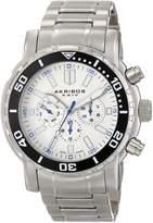 Akribos XXIV Men's AK675WT Grandiose Analog Display Swiss Quartz Silver Watch