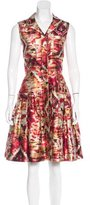 Oscar de la Renta Silk-Blend Printed Dress