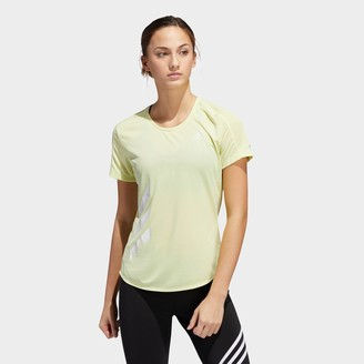 adidas Women's Run It 3-Stripes Fast T-Shirt