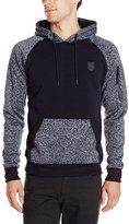 Southpole Men's Marled Hoodie with Color Blocking