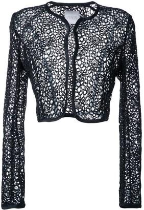 Ingie Paris Semi Sheer Cropped Jacket