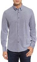 Thomas Dean Men's Regular Fit Oxford Pique Sport Shirt