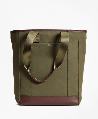Brooks Brothers Canvas Tote Bag