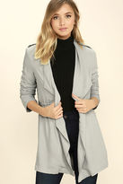 Lush Moonlit Walk Light Grey Jacket